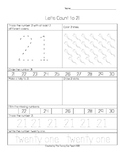 21 to 30 Common Core Number Skills Worksheets
