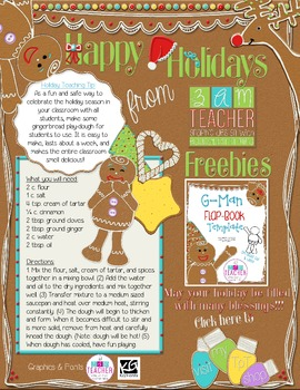 2013 Winter Holidays Tips and Freebies: Grades PK/K Edition