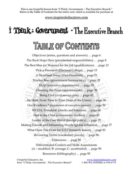 2104-11 Limiting the Powers of the Executive Branch