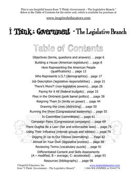2105-1 The U.S. Legistlative Branch - How it was formed