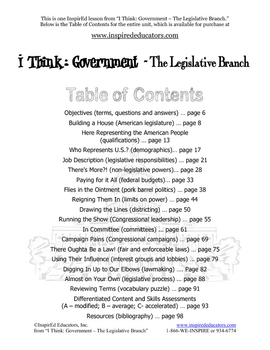2105-8 Limits on Powers of the Legislative Branch