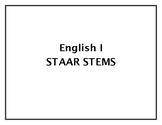 2107 English I STAAR Stem Questions