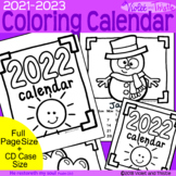 2020 2021 Coloring Calendar Printable to Color Parent Christmas Gift for Parent
