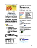 2.1.5 The Strongest One Reading Street 2nd Grade Newsletter Unit 1 Week 5