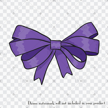 216 Bow Clip Arts in Princess Theme Pink Purple Green Lilac