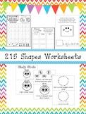 217 Shapes Worksheets and Charts. Preschool-Kindergarten G