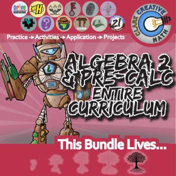 21st Century Algebra 2 / Pre-Calculus Curriculum Bundle + Free Downloads