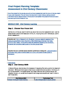 Create Your Own Wiki Project- 21st Century Assessment Lesson Plan