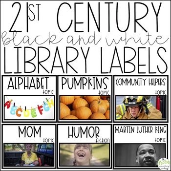 21st Century Black and White Library Labels
