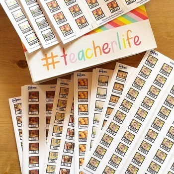 21st Century White Library Labels - Real Life Picture Book Bin Labels