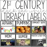21st Century White Library Labels - Real Life Picture Book