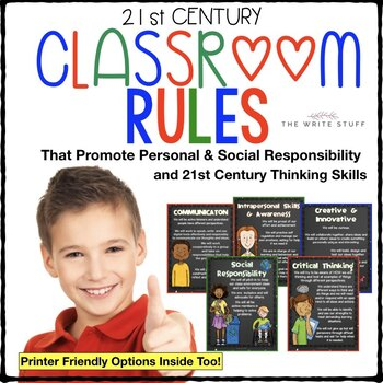 Classroom Rules for 21st Century Learners (3-5th)