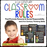 21st Century Classroom Rules Posters