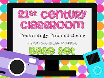 21st Century Classroom: Tech. Themed Decor Base Set