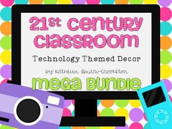 21st Century Classroom: Tech. Themed Decor Mega Bundle