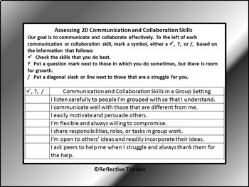 21st Century Collaboration & Communication Skills:  Developing Group Norms
