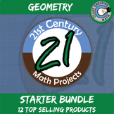 21st Century Geometry Math Project Starter Bundle -- Common Core Aligned