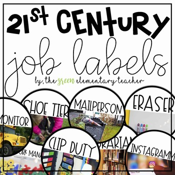 21st Century Job Labels EDITABLE- White Version