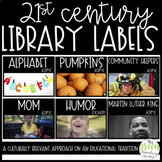 21st Century Library Labels - Real Life Picture Book Bin Labels