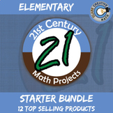 21st Century Elementary Math Projects Starter Bundle -- Common Core Aligned