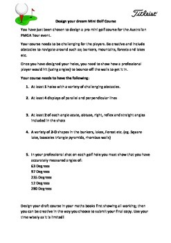 21st Century Mini Golf Math Project - Geometry