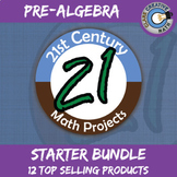 21st Century Pre-Algebra Project Starter Bundle -- Common Core Aligned