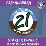 21st Century Pre-Algebra Math Project Starter Bundle -- Common Core Aligned