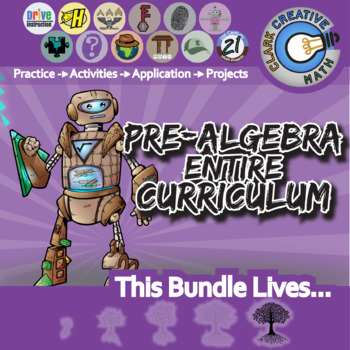21st Century Pre-Algebra Curriculum Bundle + Free Lifetime Downloads