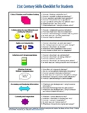 21st Century Skills Checklist for Students and Teachers