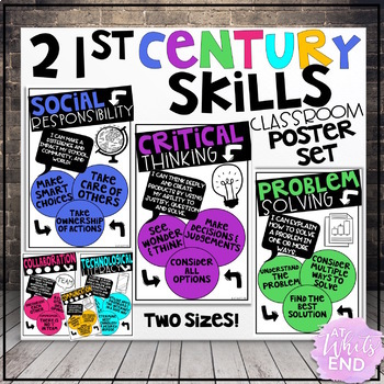 21st Century Skills: Classroom Posters & Student Reflection 4-8 {Back to School}