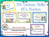 21st Century Skills ~ Four Cs Posters ~ Chevron backgrounds