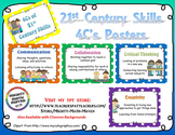 21st Century Skills ~ Four Cs Posters ~ PolkaDot backgrounds