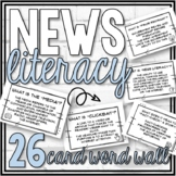 Media Literacy Task Cards  (44 News Literacy Task Cards) w Google Drive Option