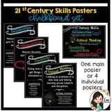 21st Century Skills (The 4 Cs) Chalkboard version