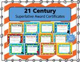 21st Century Superlative Award Certificates