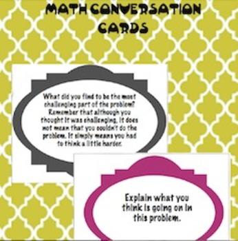 21st Century/Higher Level Thinking Math Conversation Task Cards