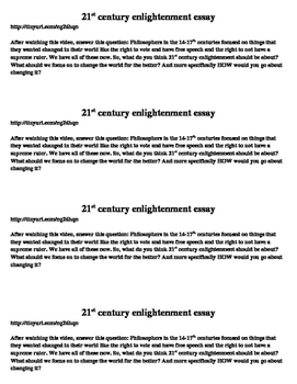 21st century enlightenment