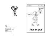 22-23 ) Joue et joue - livret de lecture ENFANT C1 Mat. et 1ère
