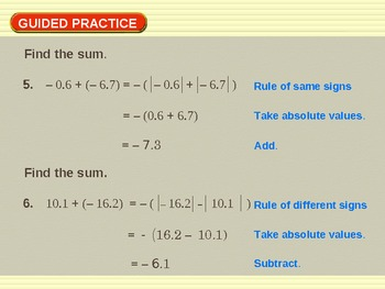 Pre algebra math for special ed teaching resources teachers pay 22 add real numbers 22 add real numbers fandeluxe Gallery