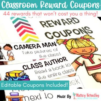 Classroom Reward Coupons for Classroom Management