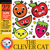 22 Clip Art Set: Fruit Cuties (by The Clever Cat)