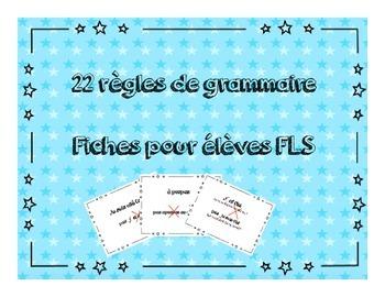 22 Common FSL mistakes 22 règles de grammaire pour élèves FLS