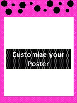 22 Customizable Pink/Black & Purple/Black Polka Dot Templates w/ 11 labels