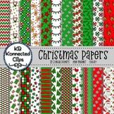 22 Digital Christmas Papers Mega Pack
