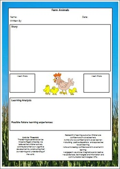22 EYLF Learning Story Templates with links to Theorists