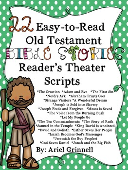 """22 """"Easy-to-Read"""" Old Testament Bible Story Reader's Theater Scripts"""