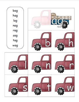 22 Family Words Activities with Hay trucks