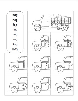 22 Family Words with fall Pumpkin Trucks