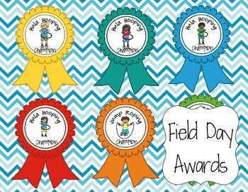 22 Field Day Award Ribbons