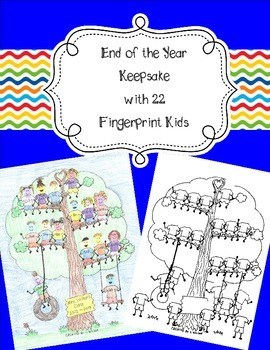 22 Fingerprint Kids End of the Year and Autograph Memory Page